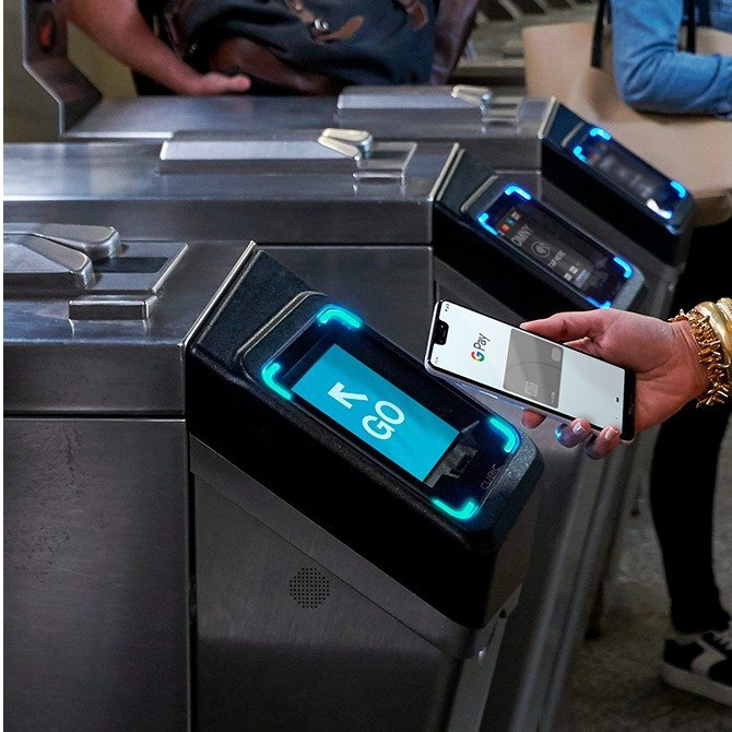 Turnstile Gate-New York Can Finally Swipe the Phone and Take the Subway.