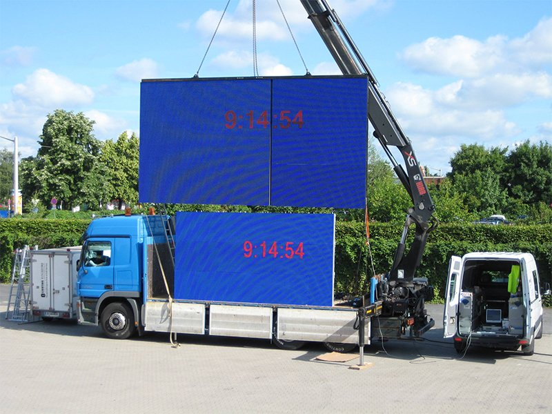 LED publicité voiture play display