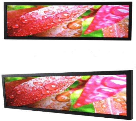 Shopping mall stretch screen