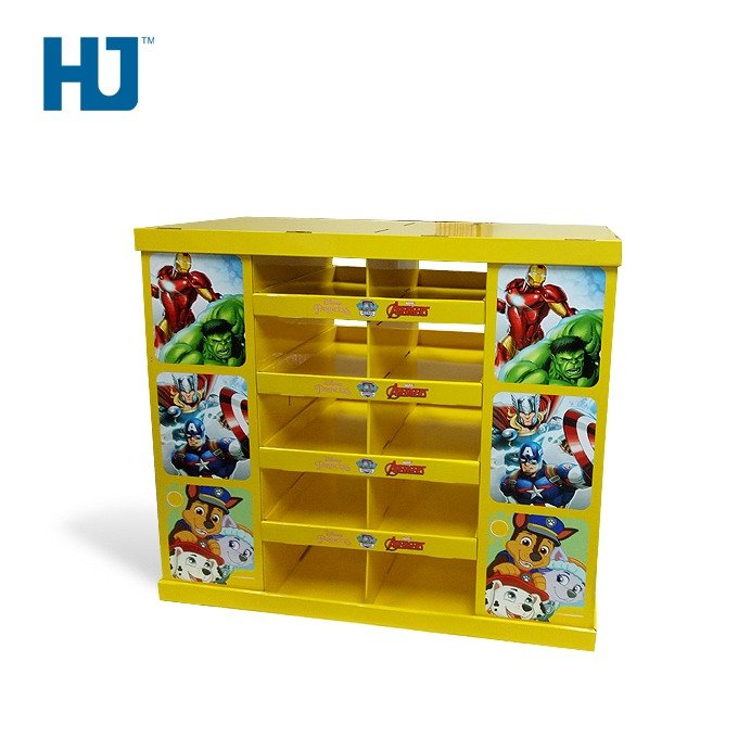 Toy Cardboard Display Stand Pop Paper Display Racks for Toy Retail and Wholesale