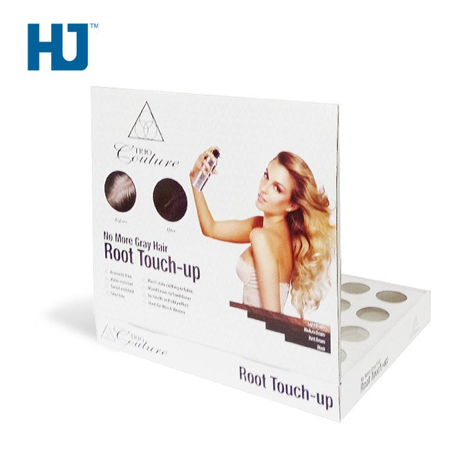 POP Hair Cream Counter Display Box Table Stand For Supermarket Or Retail Store