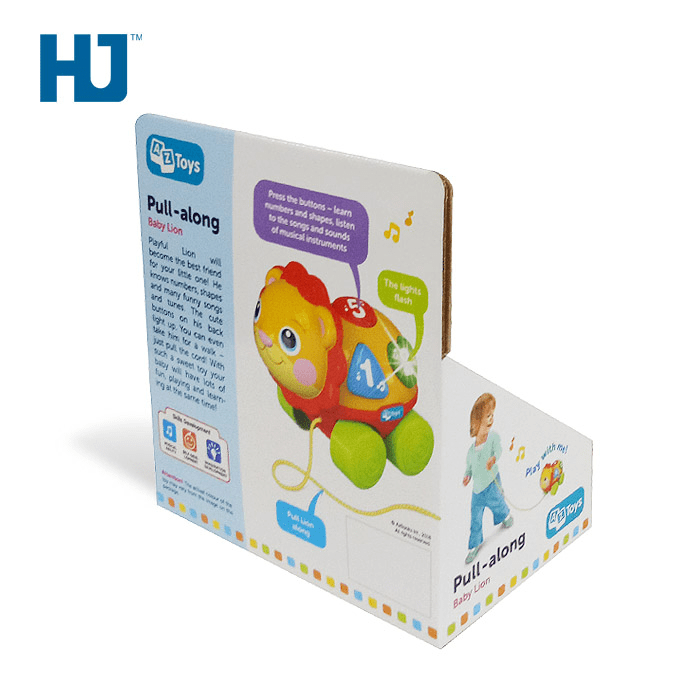 Customized Babe Toy Car Cardboard Display Rack Boxes For Retail Cartoon Store