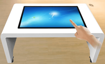 43 inch table kiosk with 10 dots capacitive touch function