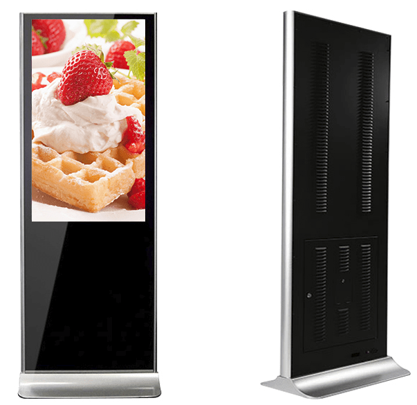 "55"" floor-standing digital signage with classical style"