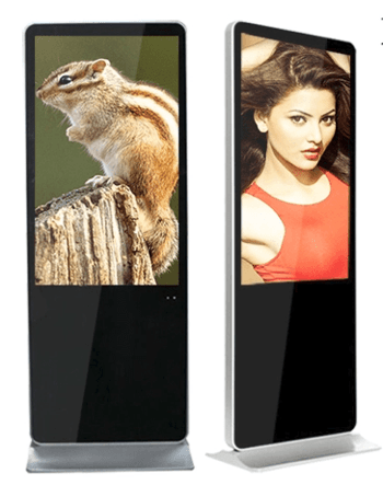 "65"" floor-standing digital signage with wifi 4k resolution ultra-thin style"