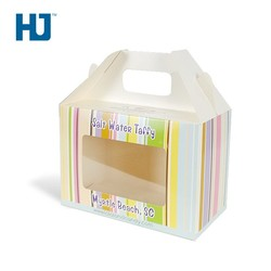 Coated Art Paper Cardboard Packaging Box With PET For Candy Handle Bag At Supermarket Or Shop