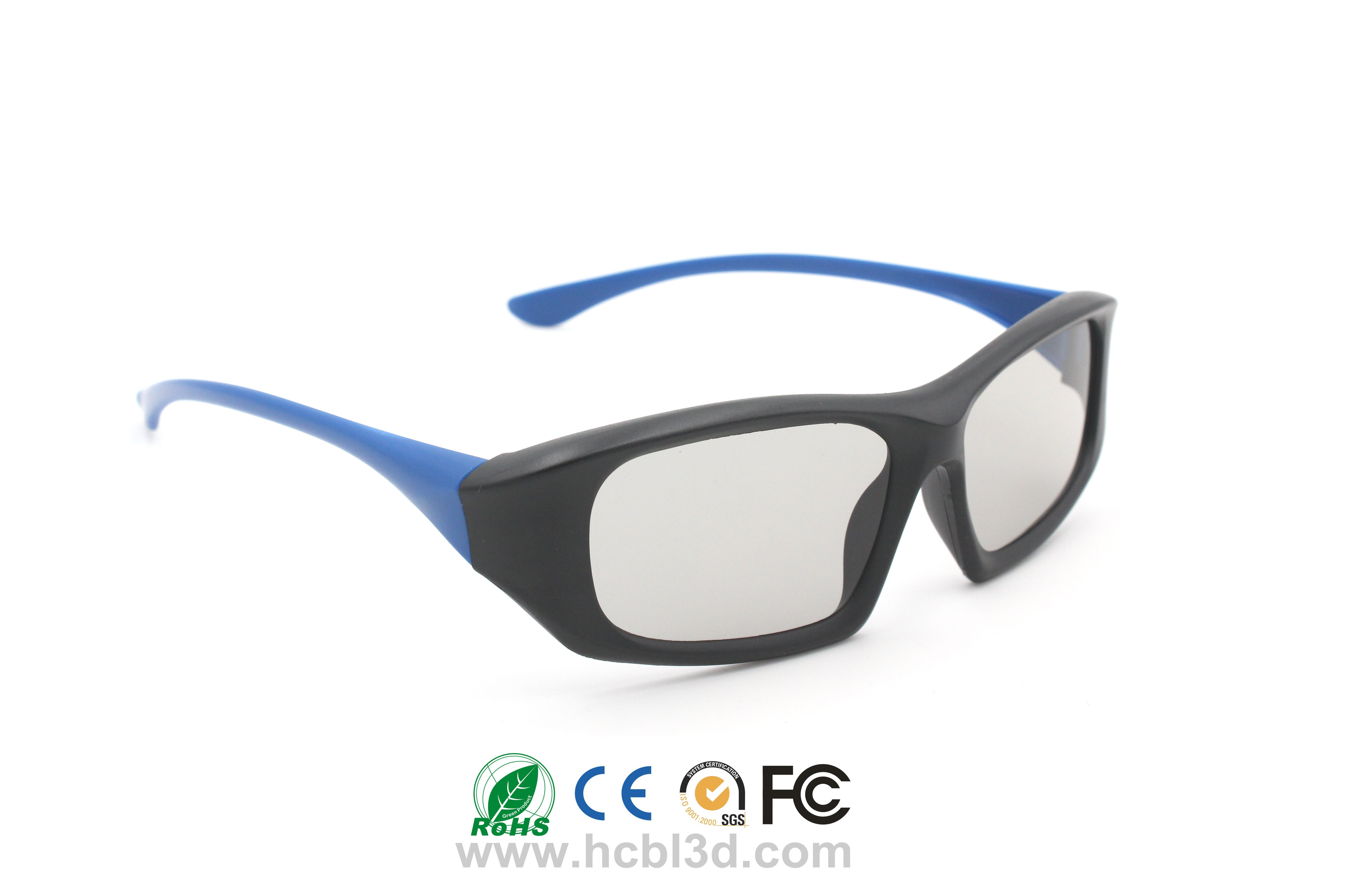 Customized Polarized 3D Glasses unique design for 3D cinemas