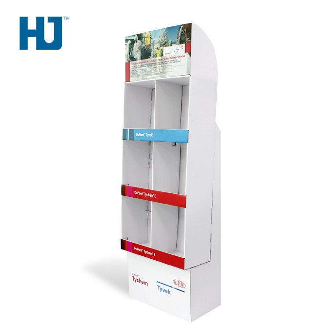 Cardboard Sidekick Displays Personal Protective Equipment Display Stands For Retail
