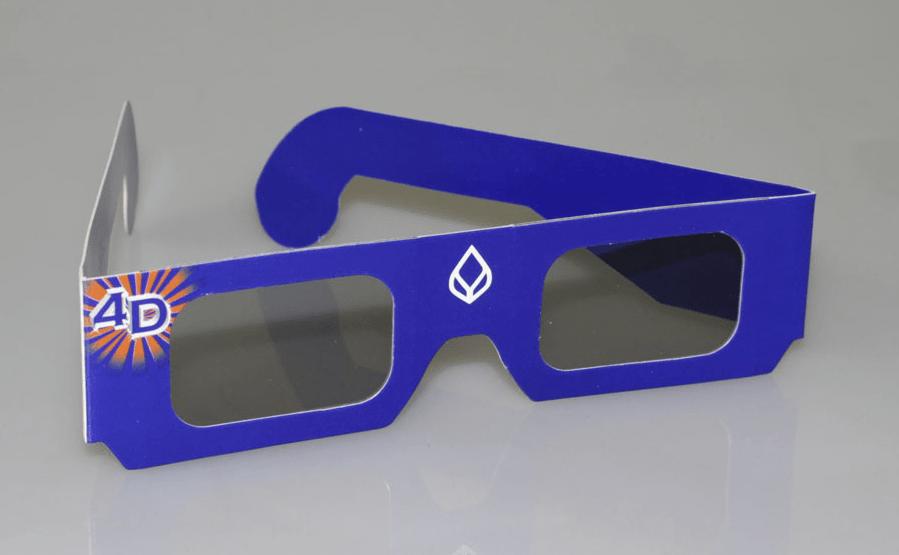 rote und blaue 3D-Brille