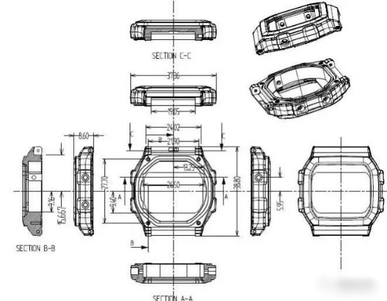 Smart Watch Shell Spritzguss-Design