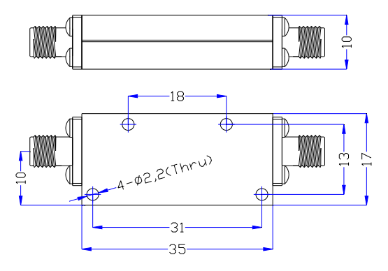 High Pass Filter From 2.5GHz to 20GHz Rate at 15 Watt