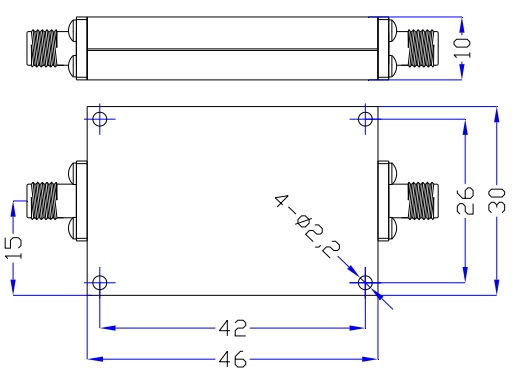 High Pass Filter From 3GHz to 13GHz Rate at 10 Watt