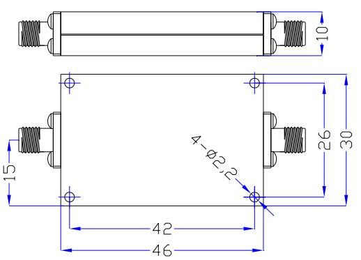 Фильтр верхних частот от 3 ГГц до 13 ГГц с частотой 10 Вт