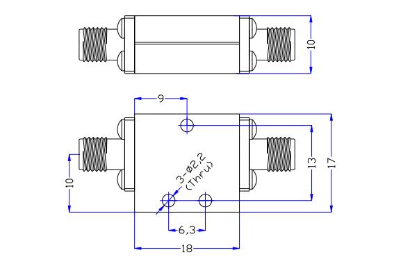 Фильтр низких частот, работающий от постоянного тока до 18GH