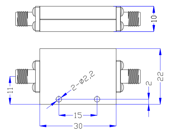 Low Pass Filter Operating From DC to 7.0GHz