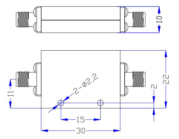 Фильтр нижних частот, работающий от постоянного тока до 7,0 ГГц