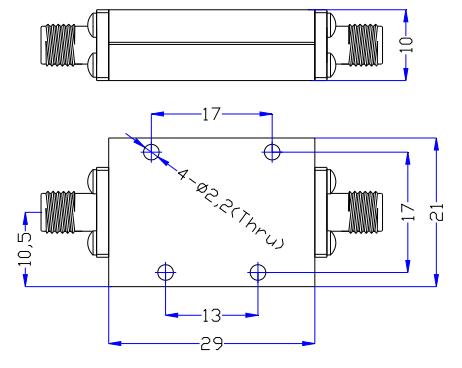 Фильтр низких частот, работающий от постоянного тока до 8,5 ГГц