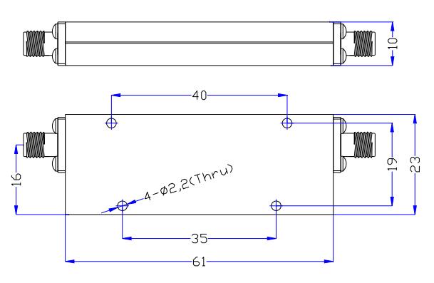 Фильтр высоких частот, работающий от 1,0 ГГц до 10 ГГц