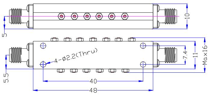 Полосовой фильтр миллиметровой волны, работающий от 26-31.5GH