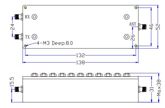 Diplexer بترددات 1805-1880 ميجا هرتز و 2110-2170 ميجا هرتز