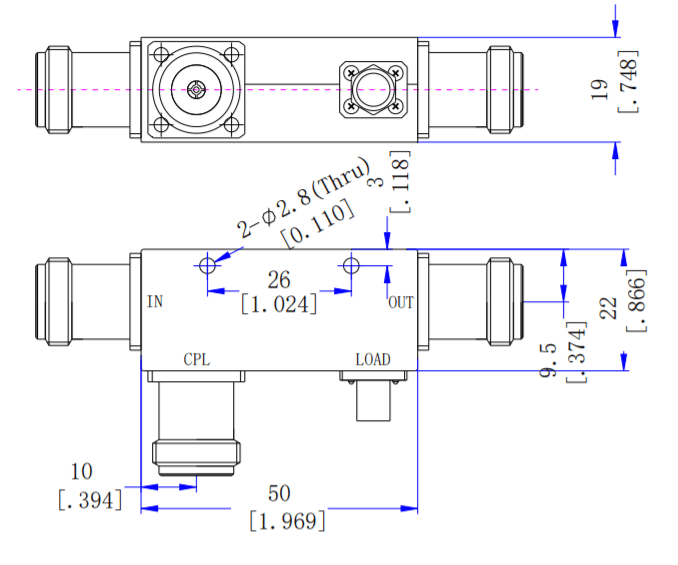 5dB Directional Coupler From 2GHz to 6GH