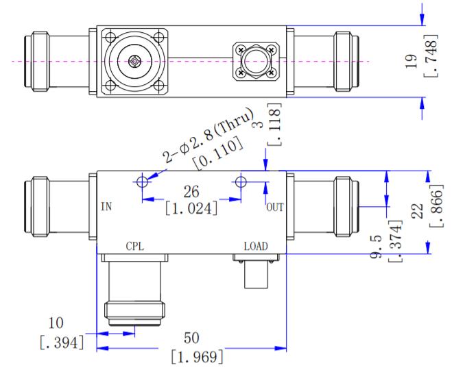 Направленный ответвитель 5 дБ от 2 ГГц до 6 ГГц