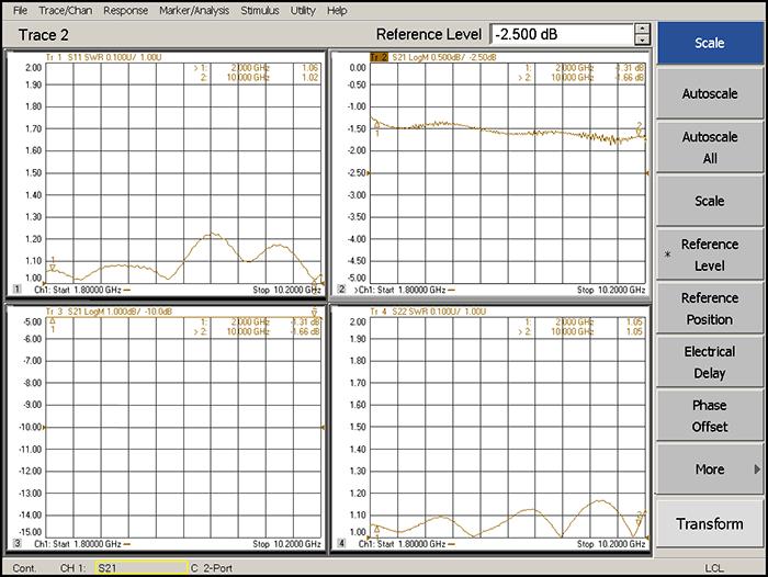 Направленный ответвитель 6 дБ от 2 до 10 ГГц