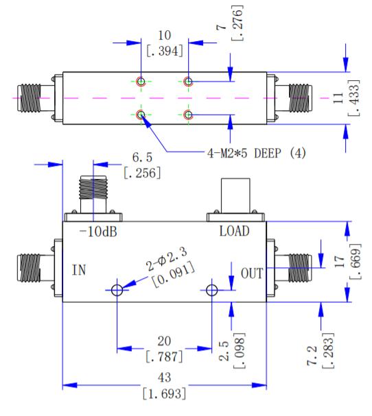 Направленный ответвитель на 10 дБ от 2 ГГц до 18 ГГц