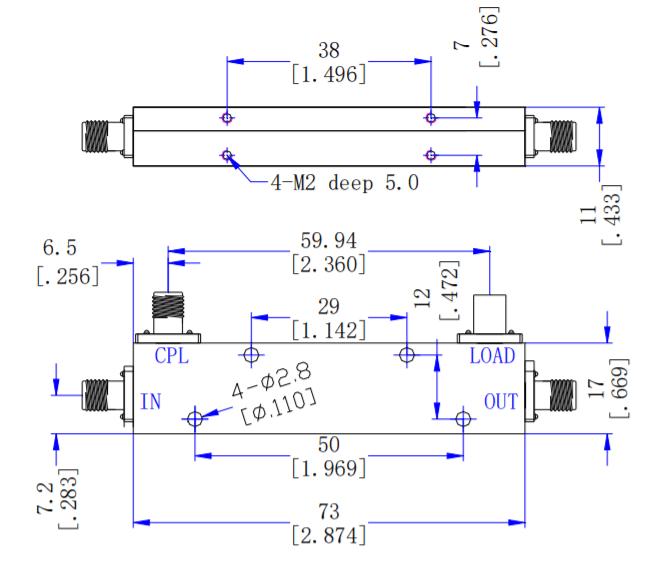 Направленный ответвитель 16 дБ от 1 ГГц до 12 ГГц