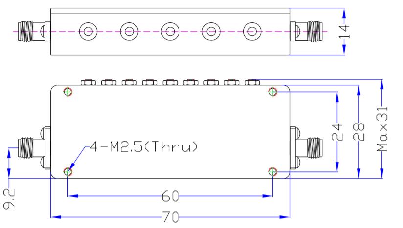 Band Pass Filter EBP-2E11-2E17