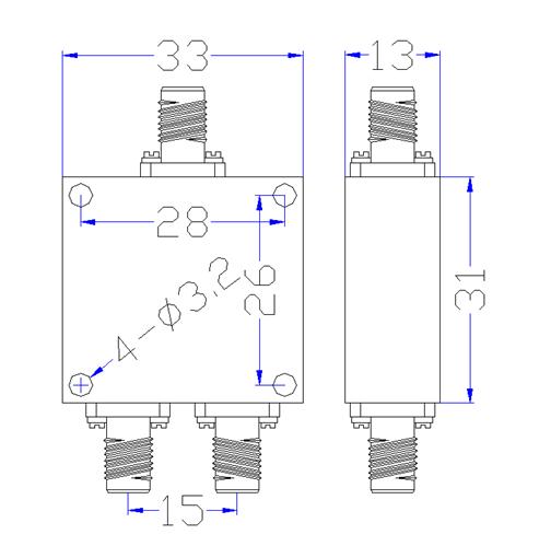 2 Way Power Divider EPD2-2E-8E