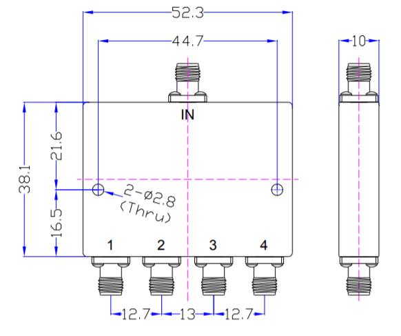 4 пути миллиметровый волновой разделитель питания EPD4-10E-40E