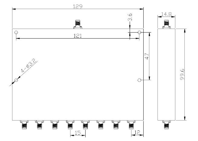 8 Way Power Divider EPD8-E5-6E