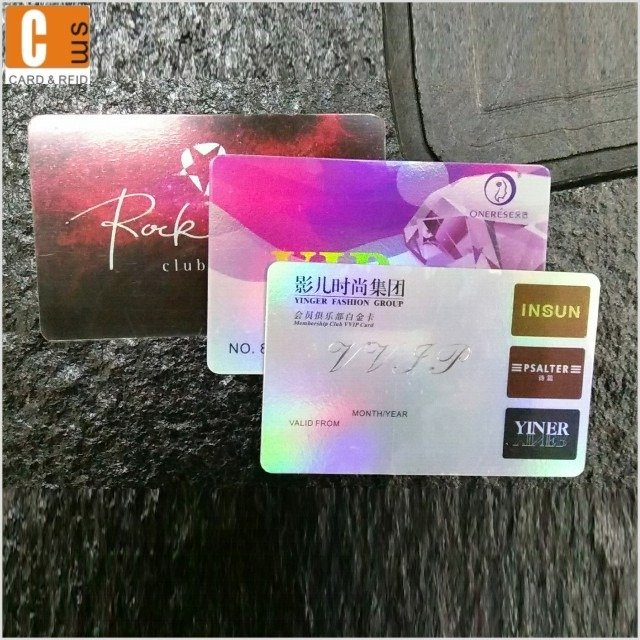 Laser pvc card  for custom printing business cards