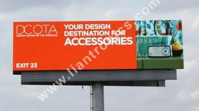 122 Sq.m LED Double-sided Advertising Screen beside Miami Highway