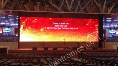 LianTronics P3.81 LED Display Enter into Bread of Life Church in Tsuen Wan, Hongkong