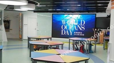 Two Sets of P2.5 and P4 LED Displays at Multifunction Classroom of GongKang Middle School in Shanghai