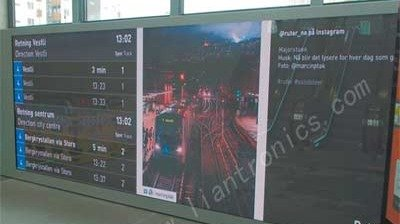 LianTronics P2.5mm LED screen shining at the subway line in Norway