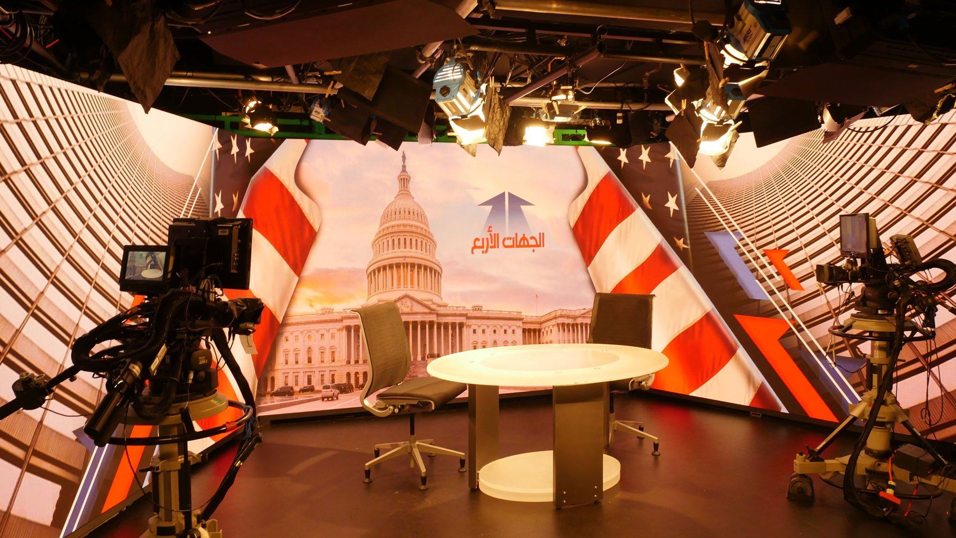LianTronics Fine-pitch LED Video Walls Renew a Broadcasting Studio in Washington DC