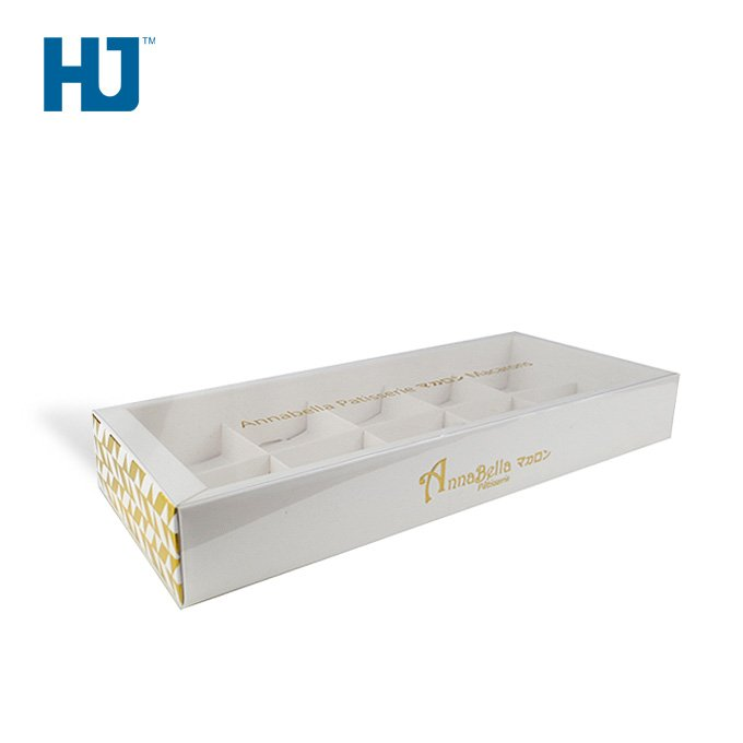 Food Paper Box Macaron Cardboard Packaging Box Biscuit Dessert Visual Window Cardboard Box