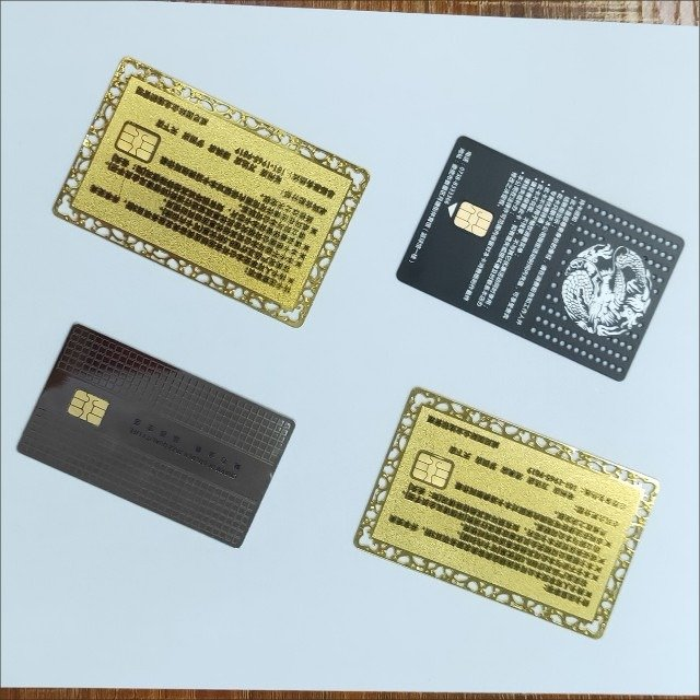 4442 Card contact chip pvc white card