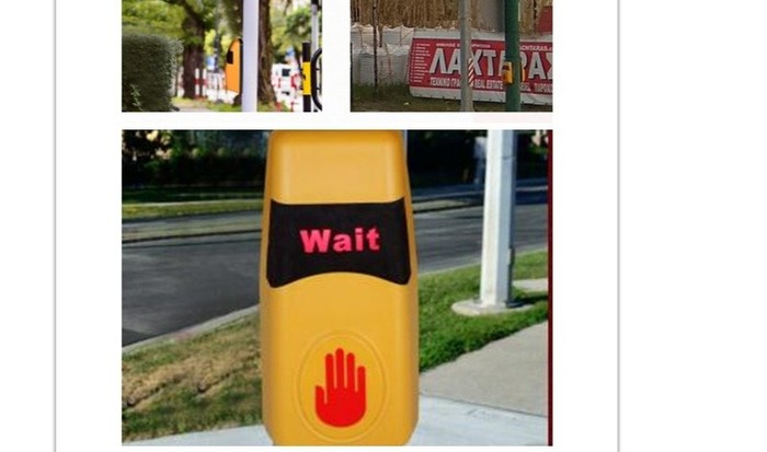 wireless pedestrian push button with wireless receiver
