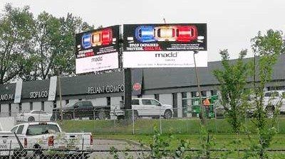50sqm LianTronics PH16 Outdoor Advertising Billboard Shines in Canada