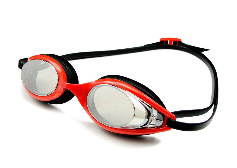 Beautiful Red Swimming Goggles , Leak Proof Swim Goggles Crushes Resistance