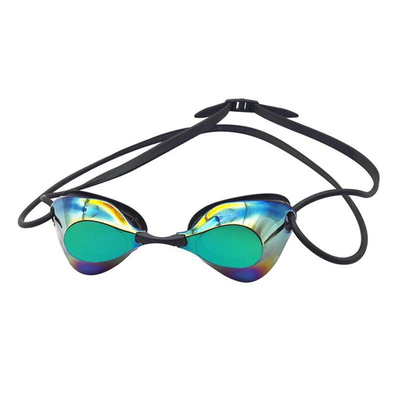 Multi Colors Competitive zwembril, Mirror Lens Goggles voor racen