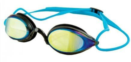 Uv Protective Mirrored Lenses Racing Swimming Goggles With Stream Line
