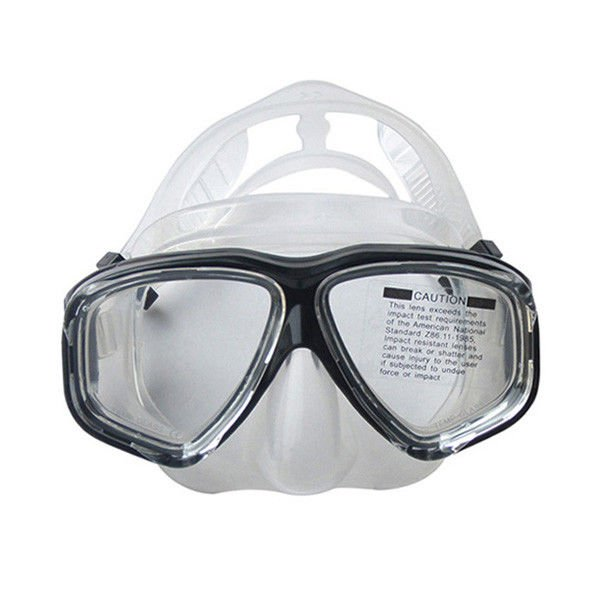 PC Frame Clear Diving Mask , Scuba Diving Goggles Corrosion Resistant