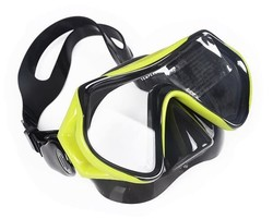 Adjustable Kids Diving Mask One Piece Swimming Goggles With Nose Cover