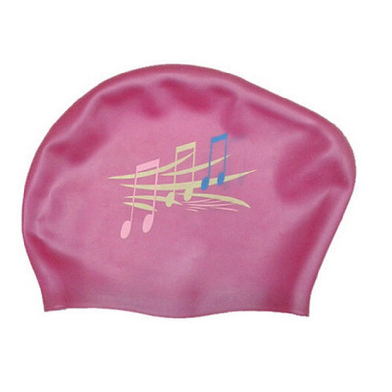 Large Space Silicone Swim Caps For Snorkeling / Diving Skid Proof Design