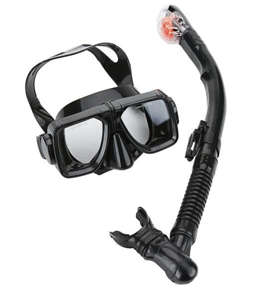 Unbreakable Mask Snorkel Set Travel Snorkel Gear With Easy Corrective